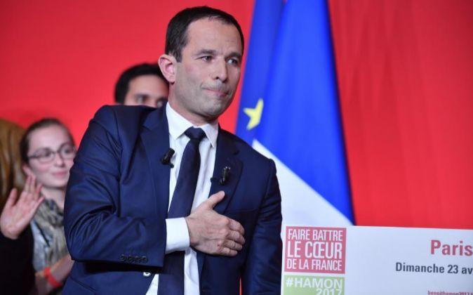 El candidato del Partido Socialista de Francia en las elecciones...