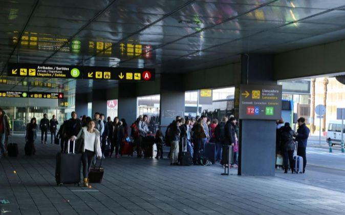 Terminal 2 del Aeropuerto de El Prat, en Barcelona.