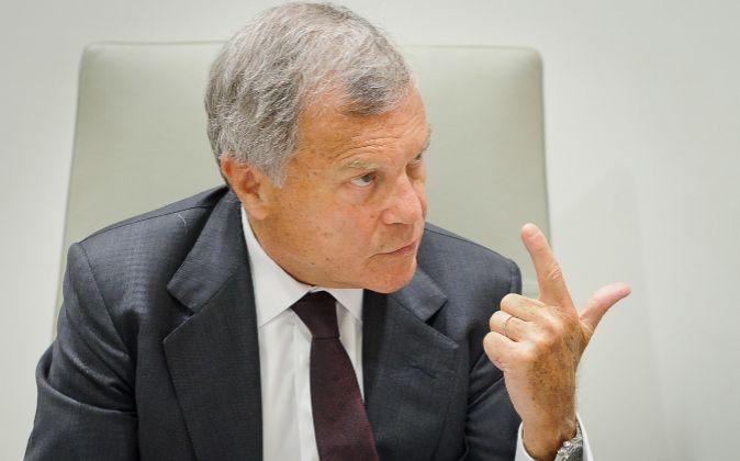 Sir Martin Sorrell, consejero delegado de WPP, durante la entrevista...