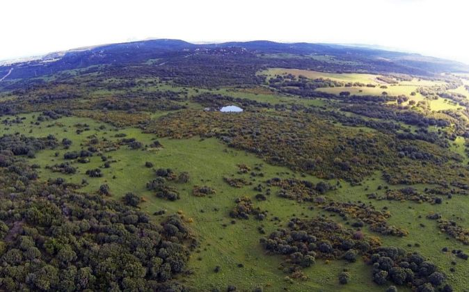 Vista área donde se ubicará la promoción de lujo Valderrama 2, en...