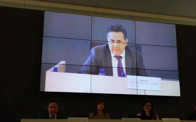Rafael Muñoz, durante su intervención.