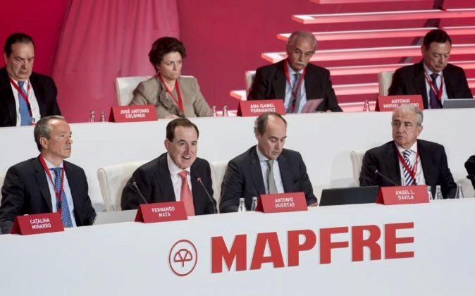 Junta general de accionistas de Mapfre con Fernando Mata, Antonio...