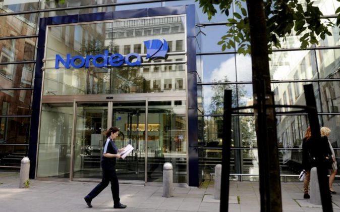 Fotografia que muestra la sede central del banco Nordea AB en el...