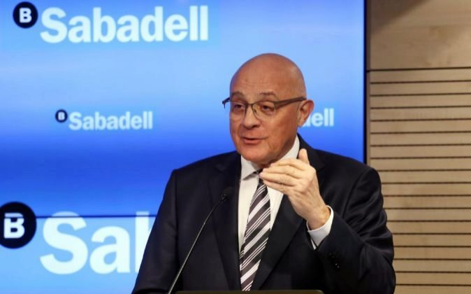 El presidente de Banco de Sabadell, Josep Oliu.