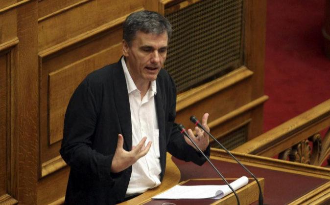 El ministro griego de Finanzas, Euclides Tsakalotos, el pasado 13 de...