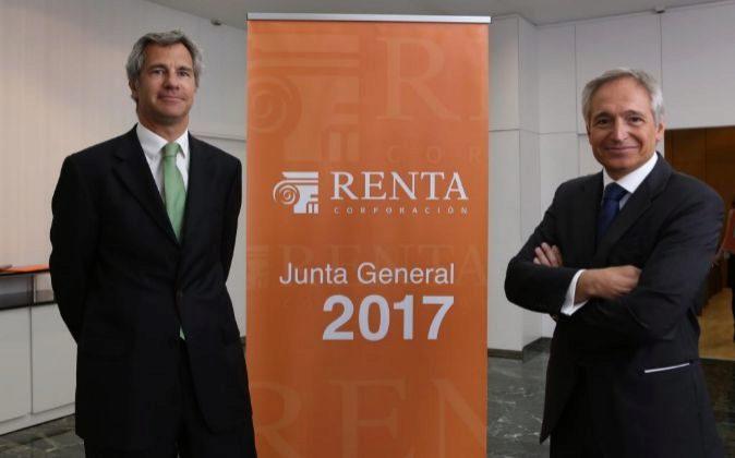 David Vila, consejero delegado de Renta Corporación y  Luis...