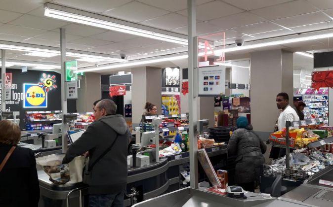 Supermercado en Bilbao.