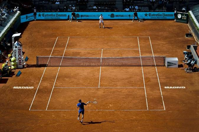 Partido del Masters 1.000 del Mutua Madrid Open, en la Caja Mágica.