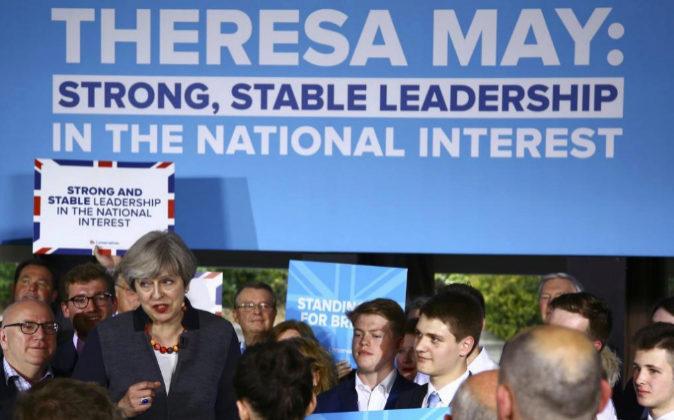 La primera ministra británica Theresa May, el pasado 2 de mayo...