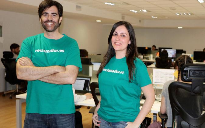 Pablo Rabanal y Beatriz Martínez, de Reclamador.es