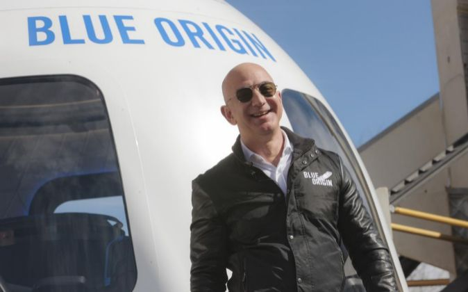 Jeff Bezos, fundador de Blue Origin y Amazon.