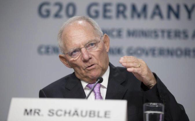 El ministro de Finanzas de Alemania Wolfgang Schäuble.