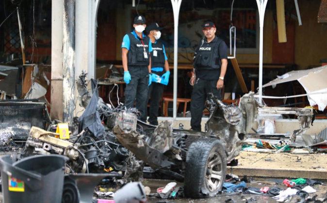 Imagen de los estragos causados por una de las detonaciones.