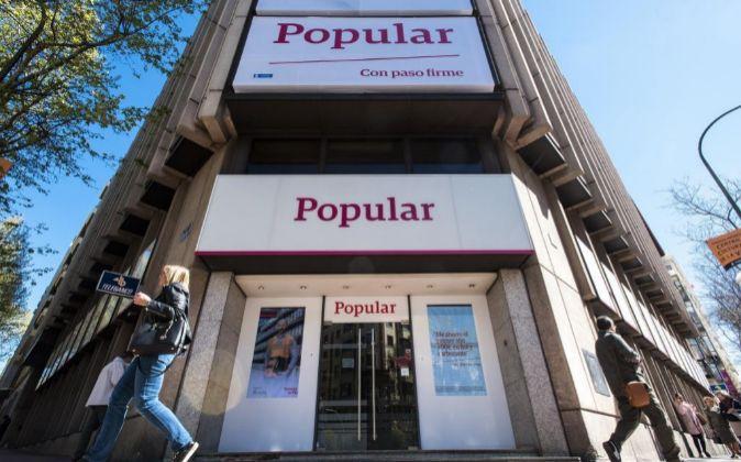 Imagen de una sucursal de Banco Popular