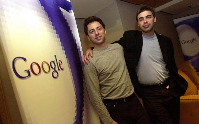Larry Page (izquierda) y Sergey Brin, creadores de Google. A través...