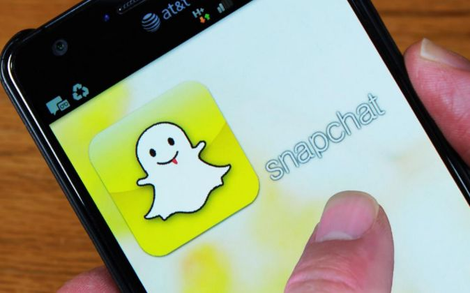 Aplicación de Snapchat.