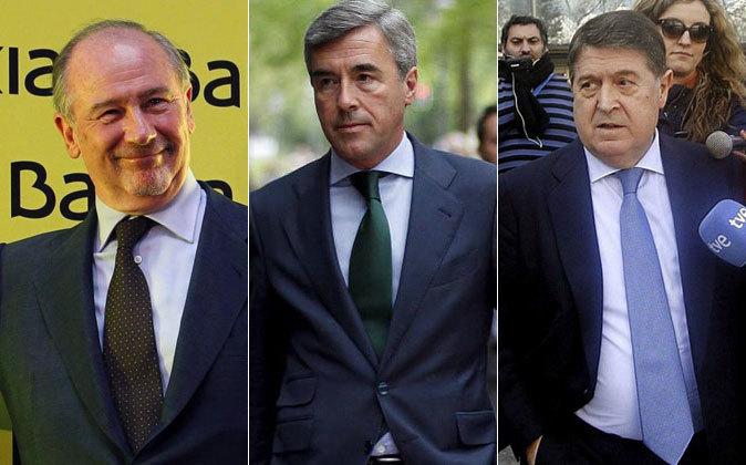 Rodrigo Rato, Ángel Acebes y José Luis Olivas.