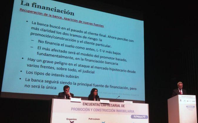 Presentación del informe del IESE ayer en Málaga.