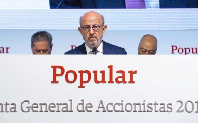 Junta de Accionistas de Banco Popular; Emilio Saracho