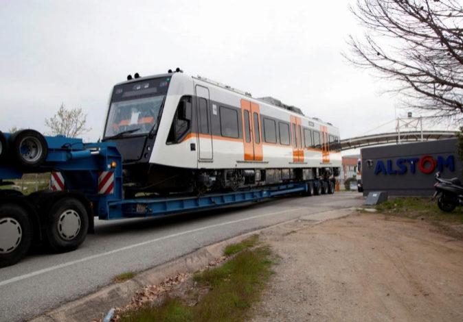 Uno de los trenes Alstom de Barcelona, en una imagen de archivo.