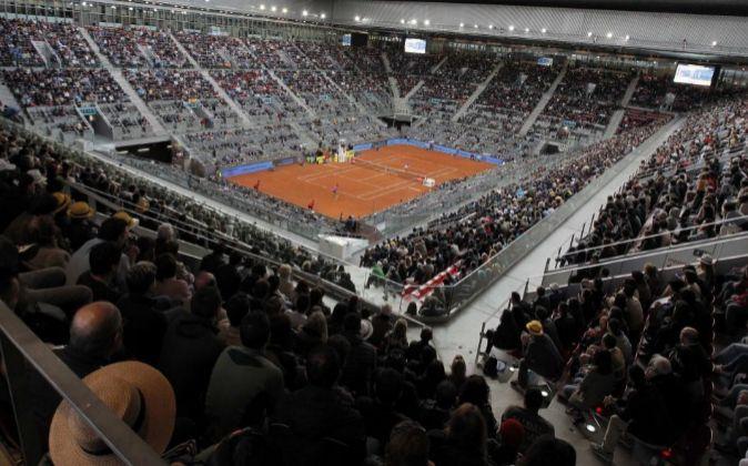 Pista central del Mutua Madrid Open.