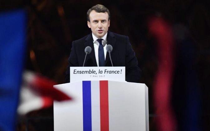 El presidente electo de Francia, Emmanuel Macron.