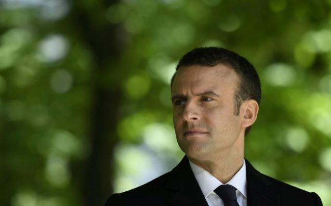 El presidente electo de Francia Emmanuel Macron.