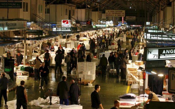 Vista general del Mercado Central de Abastecimiento de Madrid...