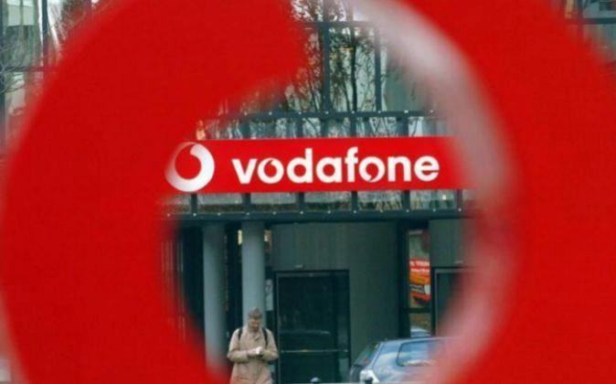 Fachada de las sede en Alemania de Vodafone.