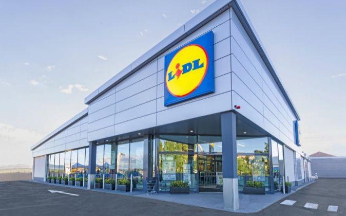 Supermercado Lidl en Almansa (Albacete).