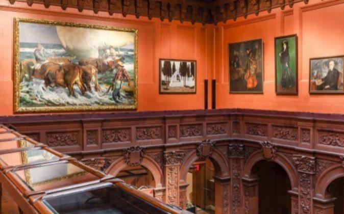 Una de las salas de la Hispanic Society of America, con sede en Nueva...
