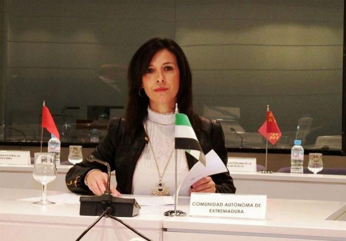 La consejera de Educación y Empleo de la Junta de Extremadura, Esther...