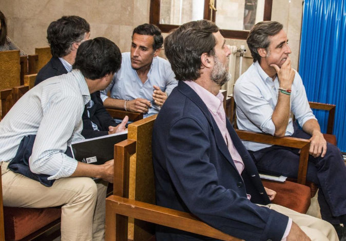 Momento del juicio en la Audiencia de Palma a los seis hermanos...