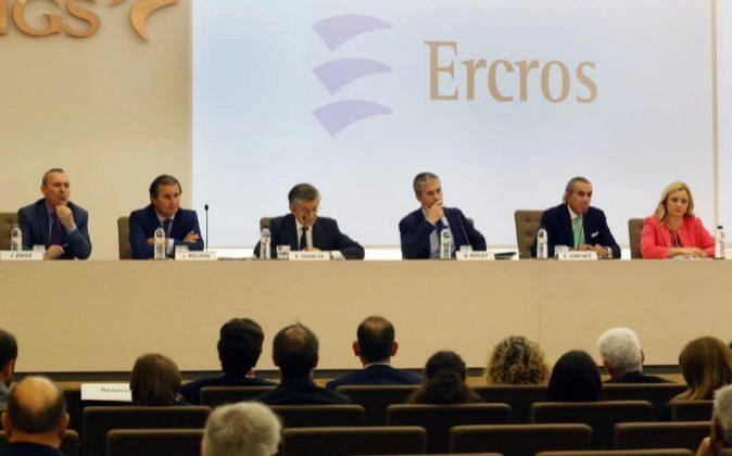 Junta de accionistas de Ercros.
