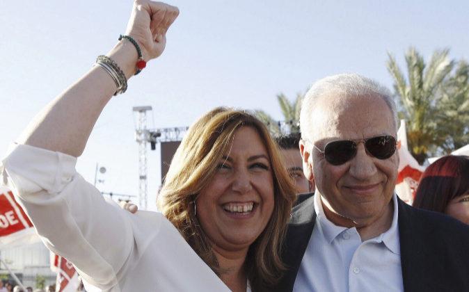 La presidenta andaluza y candidata a las primarias socialistas, Susana...