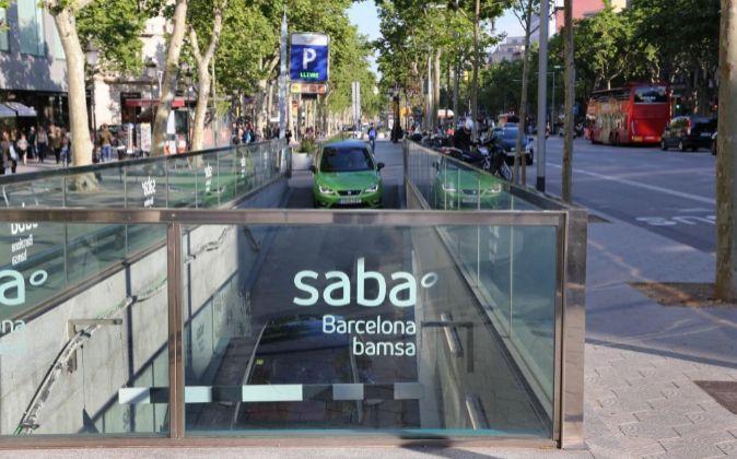 Uno de los aparcamientos gestionados por Saba en Barcelona, a través...