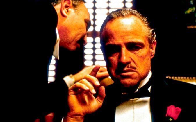 El Padrino. Protagonizada por Marlon Brando, que da vida a don Vito...