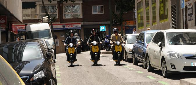 Tres motos de Muving.