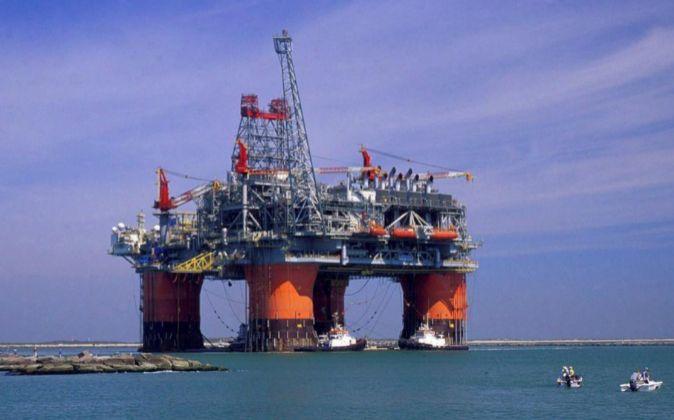 Imagen de una plataforma petrolífera en el Golfo de México