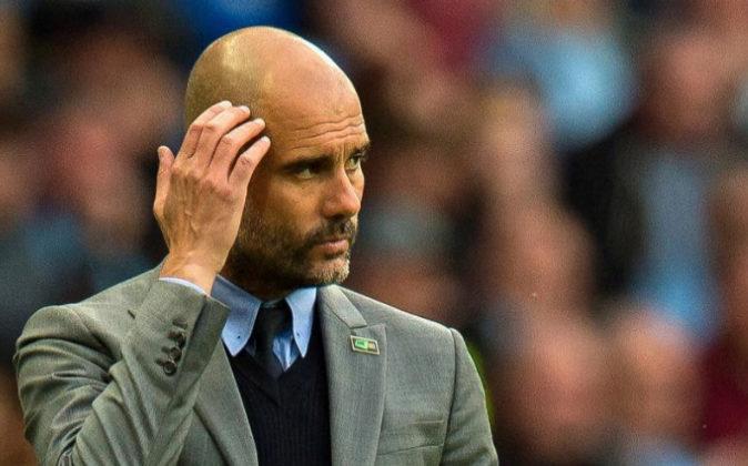 El entrenador del Manchester City, Pep Guardiola, el pasado 16 de mayo...