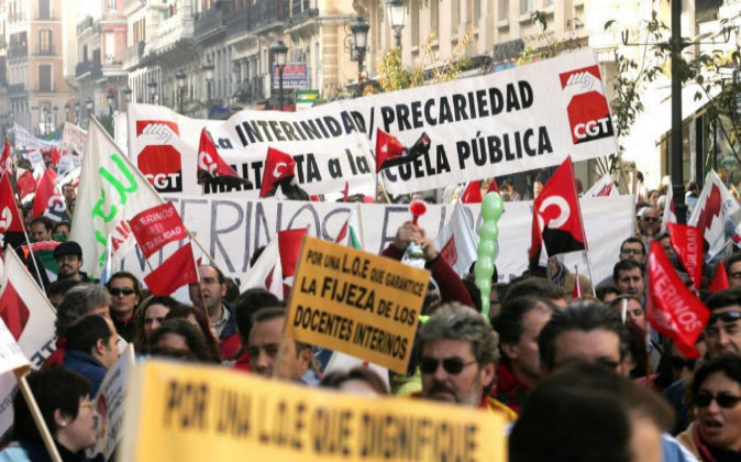 Imagen de archivo de una manifestación en Madrid en noviembre de 2005...
