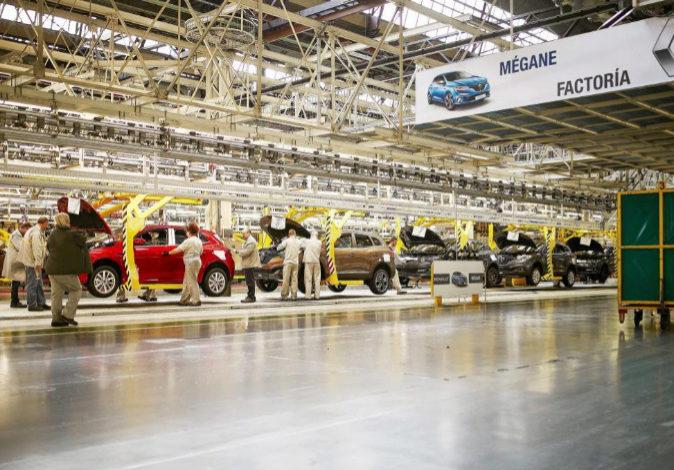 Cadena de montaje de Renault en Palencia.