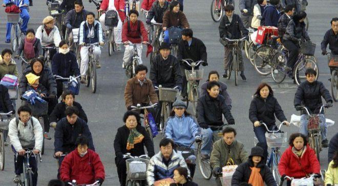 Ciudadanos chinos en Pekín.