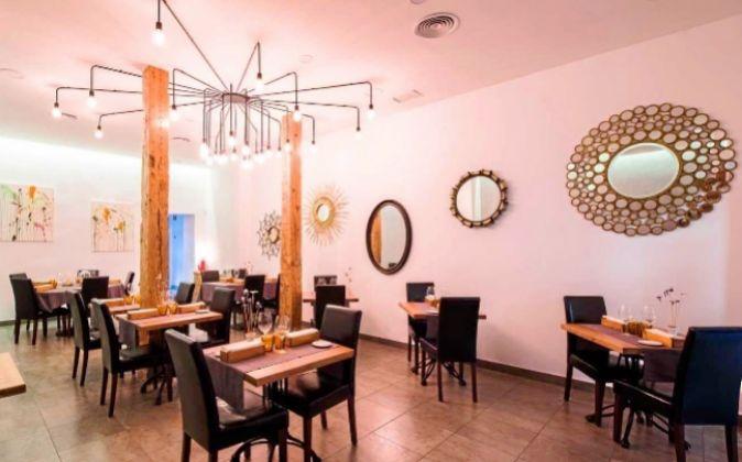 Sala del restaurante El Mendrugo.