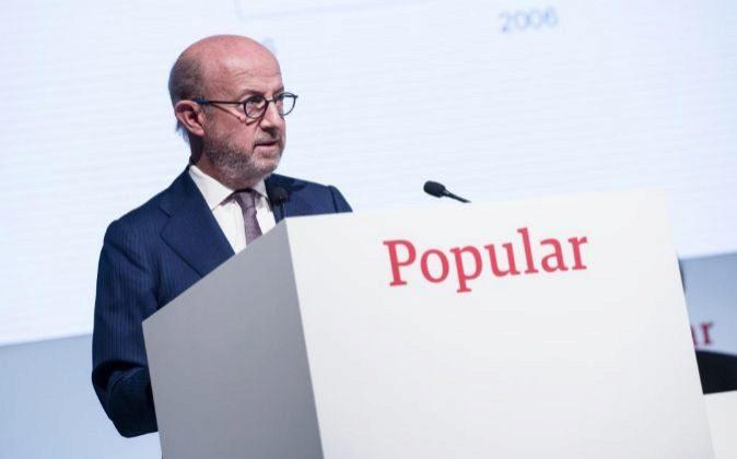 Emilio Saracho, presidente de Popular