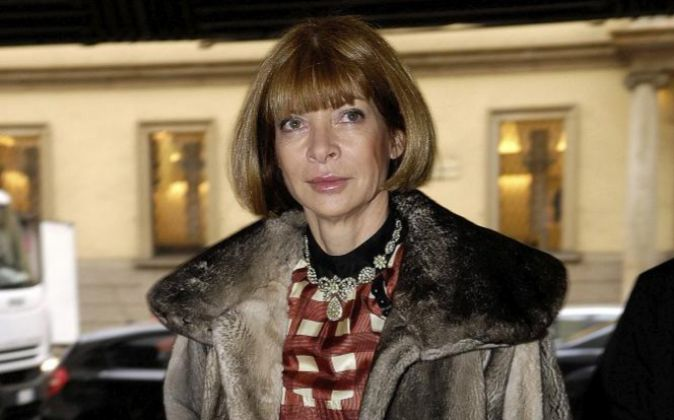 Anna Wintour, editora jefe de la revista 'Vogue'. Wintour...