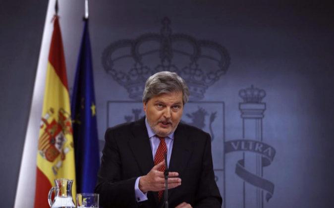 El portavoz del Gobierno, Íñigo Méndez de Vigo, hoy durante la...