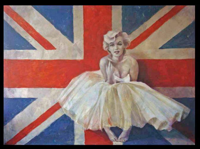 'Marilyn: Union Jack' de Marina Romero. Óleo sobre lienzo.