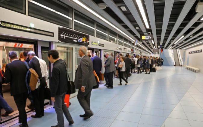 Foto de archivo de la estación de Metro Fira, en la línea 9.