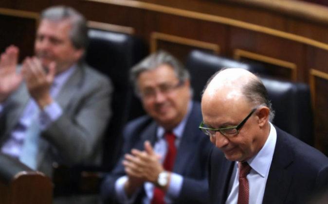 El ministro de Hacienda y de Función Pública, Cristóbal Montoro, el...